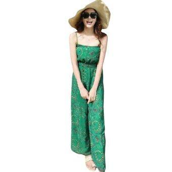 Ladyidol จั๊มสูทสายเดี่ยว - สีเขียว