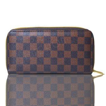 Nuchon Bag กระเป๋าตังสตางค์ ใส่มือถือ Iphone 6Plus Size L (Damier/Brown)