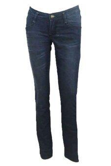 JEANS กางเกงขายาวยีนส์ยืด jea-la6275bl (สีกรมเข้มฟอก)