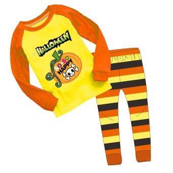 T232 แฟชั่นเด็กชุดนอนเด็กลายการ์ตูนน่ารัก ๆ แขนเสื้อกางเกงเสื้อชุดนอนยาวรูปแบบ