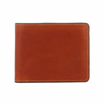 Trifold Wallet - Light Brown - กระเป๋าสตางค์ผู้ชาย หนังแท้