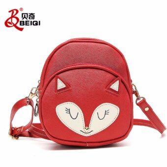 nightberry กระเป๋าสะพายข้างรูปสุนัขจิ้งจอกสีแดง - nightberry0682