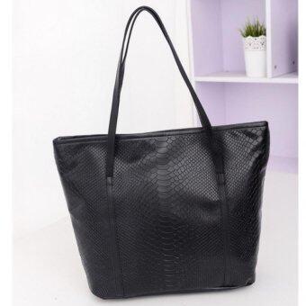 Bag Fashion กระเป๋าสะพายข้าง กระเป๋าหนังแฟชั่น รุ่น009 (สีดำ)