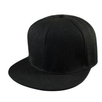 เพศชายเป็นฮิพฮอพปรับได้ใส่หมวกหมวกเบสบอล Snapback สีดำ