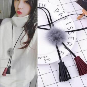 สร้อยคอสไตล์เกาหลี Necklace Style Korea (TATA0-07 สีเทา)