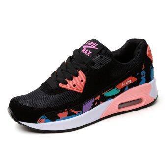 YINGLUNQISHI แฟชั่นรองเท้ากีฬาสตรีรองเท้าผ้าใบเดิน J22 (ดอกไม้)
