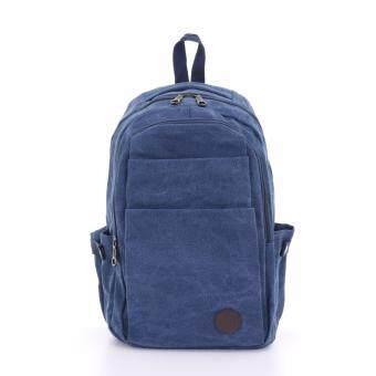 Bag Gammon Dome กระเป๋าเป้ แคนวาส สะพายหลัง (สีน้ำเงิน)
