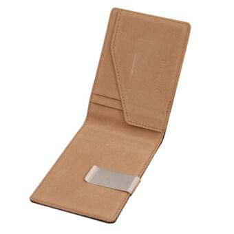 เจตนาหนังแท้เงินเล็กเงินกระเป๋าสตางค์กิ๊บสีดำหมายเลขบัตรเครดิตเจ้าของกาแฟ