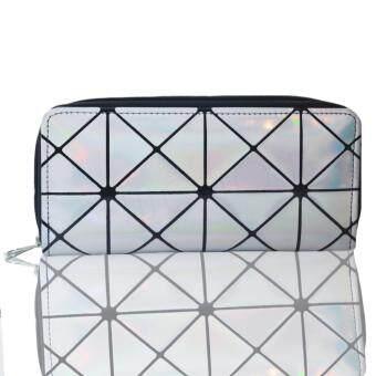 Nuchon Bag Women Wallet กระเป๋าสตางค์ กระเป๋าสตางค์ใส่มือถือ Iphone 6 Plus Size L สีเงิน รุ่น SilverCoin BaoBao Issey