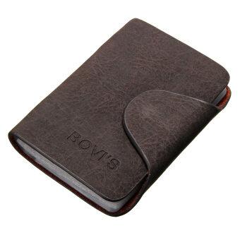 ธุรกิจบัตรเครดิตคนทำหนังกระเป๋าถือกระเป๋าสตางค์กระเป๋าสะพายประจำมินิ 20 ช่องกาแฟดำ