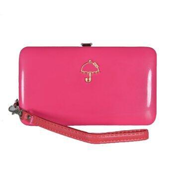 Nuchon Bag กระเป๋าสตางค์ลายร่ม ใส่มือถือ ใส่Iphone6 Size S Pastel รุ่น (Umbrella/PINK)