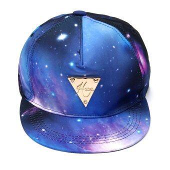 แฟชั่นร้อน Galaxy พิมพ์หมวกแก๊ปหมวกเบสบอลหนักหน่วง Snapback เพศปรับได้ใส่หมวก