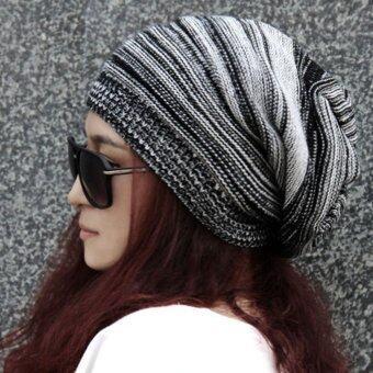 สร้างสตรีเพศสวมหมวกคล้ายหมวกไหมพรมสุขาฤดูร้อนไซส์ใหญ่พิเศษหมวกเล่นสกีสีดำ