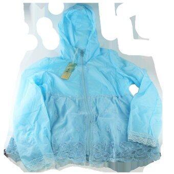เสื้อคลุมกันแดดและฝนเวลาขับขี่มอเตอร์ไซค์ ไซส์ S (สีฟ้า)