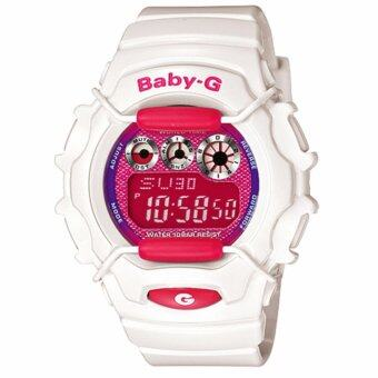 Casio Baby-G นาฬิกาข้อมือผู้หญิง สายเรซิ่น รุ่น BG-1006A-7C - สีขาว