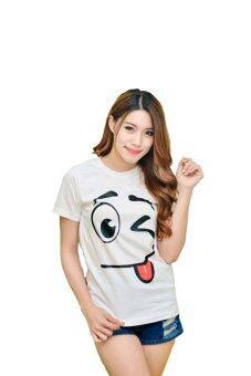 NOLOGO เสื้อยืด รุ่น แลบลิ้นเล็ก (สีขาว)