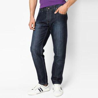 OASIS กางเกงยีนส์ชาย รุ่น Casual Skinny Jeans MVJ8671-NB สีน้ำเงิน