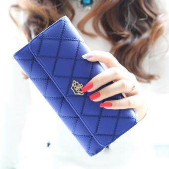 Nitta Bag กระเป๋าสตางค์ กระเป๋าเงิน กระเป๋าใส่เหรียญ Wallet รุ่น NT-080 (สีน้ำเงิน)