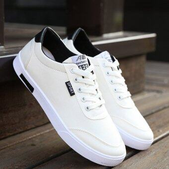 JOY Low to help men canvas shoes (white)
