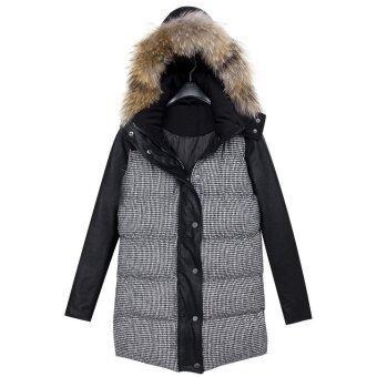 Over Coat เสื้อโค้ทกันหนาวสีดำหนาซับขนเป็ดมีหมวกฮู้ดใส่ติดลบได้