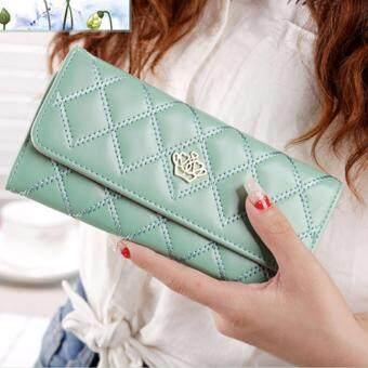 Nitta Bag กระเป๋าสตางค์ กระเป๋าเงิน กระเป๋าใส่เหรียญ Wallet รุ่น NT-132(สีเขียวอ่อน)