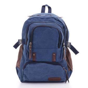 Bag Gammon กระเป๋าเป้แคนวาส (สีน้ำเงิน)