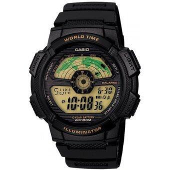 Casio Standard นาฬิกาข้อมือผู้ชาย สายเรซิ่น รุ่น AE1100W-1B - Black