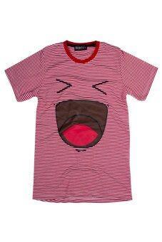 NOLOGO เสื้อยืดเด็ก รุ่น Happy (สีริ้วแดง)