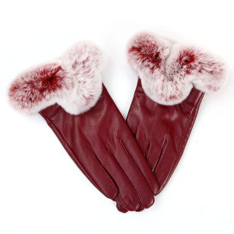 ฤดูร้อนฤดูใบไม้ร่วงพวกสัตว์ขนกระต่ายถุงมือหน้าจอสัมผัสถุงมือสีแดง-ระหว่างประเทศ