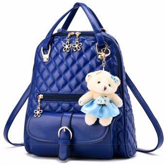 กระเป๋าเป้ แฟชั่น ผู้หญิง รุ่น KLY-35353-2 (Blue)
