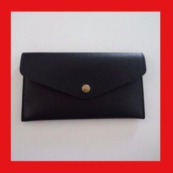 กระเป๋าหนัง แบ่ง2ช่อง / สีดำ