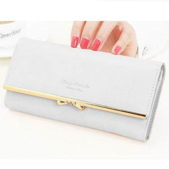 Nuchon Bag กระเป๋าสตางค์ ใส่มือถือ Lovely Romantic Smart Wallet Iphone 6S Size M (White/Pearl)