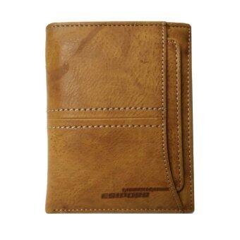 Esiposs กระเป๋าสตางค์ หนัง ใบสั้นแนวตั้ง รุ่น B018-3 (สีแทน)