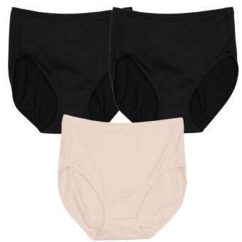 Wacoal Panty Set 3 pcs. กางเกงในรูปทรง SHORT (เต็มตัว) สีเบจ