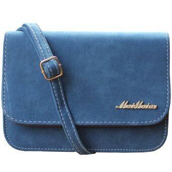 Peimm Modello กระเป๋าสะพายแฟชั่น หนังด้าน สไตส์เกาหลี (สีน้ำเงิน)