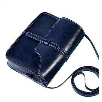 กระเป๋าเงินหนัง Coconiey วินเทจข้ามไหล่กระเป๋าแมสเซนเจอร์ร่างกายน้ำเงินจัดส่งฟรี