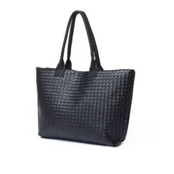 กระเป๋าถือสตรีหนัง Pu สารคนตายร่อนเร่กระเป๋าสะพายกระเป๋าถือสีดำ