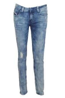 EAY JEANS LADY กางเกงขายาวยีนส์ยืด jea-la2014-1bl สีกรมฟอก