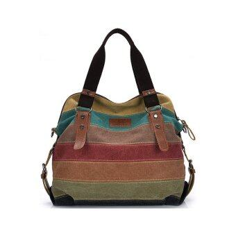 best กระเป๋าแฟชั่น กระเป๋า Big Canvas bag Rainbow Fashion Women Bag