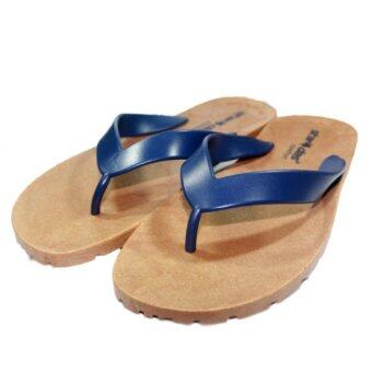 STARDAS รองเท้าแตะแบบมีหู ยางพาราแท้ สีน้ำเงินกรมท่า