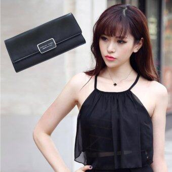 Nuchon Bag กระเป๋าสตางค์ ใส่มือถือ Foever Yong From Korean Smart Wallet Iphone 6S Bag 2 in 1 size M Black