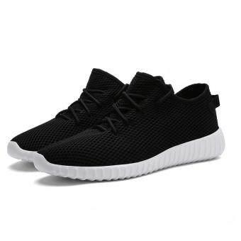 เดินหายใจวิ่งรองเท้าลำลองกีฬารองเท้าผ้าใบสีขาว...