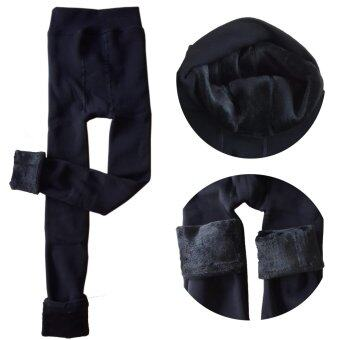 Sexy Secret Pearl Cashmere Leggings กางเกงเลคกิ้งกันหนาวอย่างดี (สีดำ)