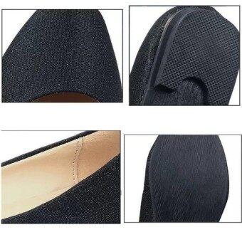 หญิงเฒ่าสะดุด Loafers แสงแฟลตบัลเล่ต์บัลเล่ต์รองเท้าลำลองสีลูกกวาด