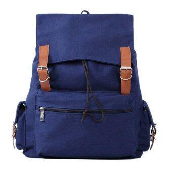 niceEshop กระเป๋าเป้เป้นักเรียนกระเป๋าผ้าเย็น เพชรสีน้ำเงิน