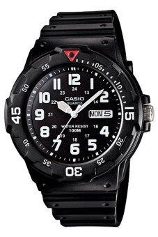 Casio นาฬิกาข้อมือผู้ชาย สายเรซิ่น รุ่น MRW-200H-1BVDF - สีดำ