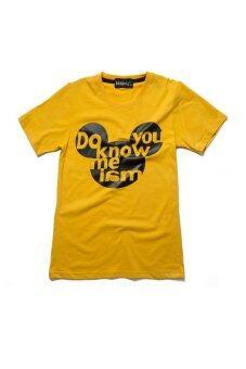 NOLOGO เสื้อยืดเด็ก รุ่น Do you Know me (สีเหลือง)