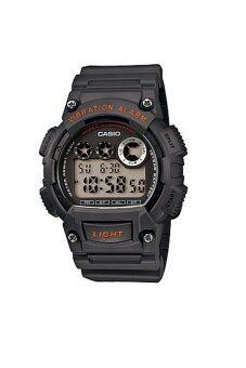Casio Standard นาฬิกาข้อมือผู้ชาย Dark Grey สายเรซิ่น รุ่น W-735H-8AVDF