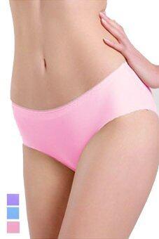 Hotdeal กางเกงชั้นในแนบเนื้อไร้ขอบ Seamless Thin Panties set 3 ชิ้น ( สีชมพู/ฟ้า/ม่วง )