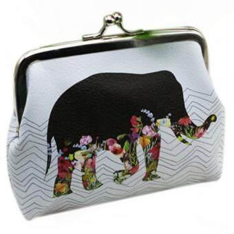 มหัศจรรย์ดอกไม้ที่เก็บบัตรคืนกระเป๋าสตางค์กระเป๋าถือกระเป๋าเงินกระเป๋าคลัตช์เหรียญช้าง